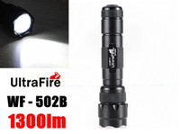 Wholesale 18650 Tactical Flashlight UltraFire WF B LM CREE XM L T6 LED Torch Light for Hiking Camping