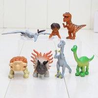 Wholesale 7pcs set The Good Dinosaur Figures Toys Dinosaur Figure Doll Toy Dinosaur Model Action Figures Doll Kids Christmas Gifts