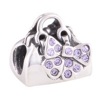 Wholesale Purse pack charms S925 sterling silver fits for pandora style charms bracelets LW583X083H8