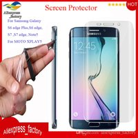 Wholesale Premium Clear Full Coverage Soft TPU Anti Shock Curved Screen Protector For iPhone S plus S Galaxy S7 S6 Edge MOTO XPLAY MOQ