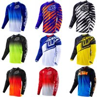 Wholesale Motocross Jersey TLD Breathable Quick Dry Air Starburst MX Offroad Jersey Motorcycle Long sleeve Large Mesh Fabric Motorcycle T shirt