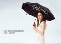 aluminum ware - The colorful and fashional of umbrella with flowers inside and black colors ouside in new wares stronger defense sunshine