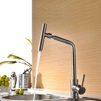 Wholesale 360 Rotating Sink Faucet Kitchen Faucet Hot And Cold Household Stainless Steel Brush Surface Water Taps