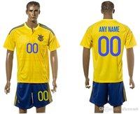 ukraine - Ukraine EURO CUP european national team soccer jersey shirt uniform kit home away kits jerseys man uniforms men shirts europe champion