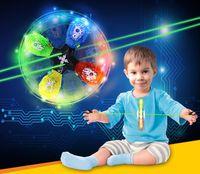 baby saucers - Classic Pull flywheel flash Yo Yo toy kinds light color flying saucer model luminous yoyo ball baby gift