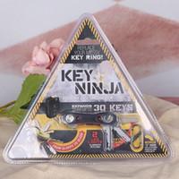 aluminum wallet lot - Key Ninja Aluminum Fashion Key Holder Wallet Clip Organizer Pocket Dual LED Lights Car Key Bag Case Housekeeper Keys Chain