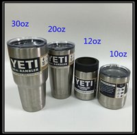 Wholesale YETI Tumbler oz oz oz oz Yeti Cup Cooler YETI Rambler Tumbler For Travel Vehicle Beer YETI Mug Tumblerful Bilayer Vacuum Insulated
