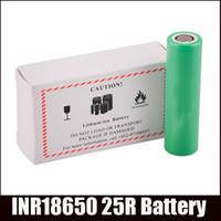 Cheap 18650 25R 3z.6V 2500mAh 20A 18650 battery Li-ion battery Fit Sigelei 150W box mods vs VTC5 VTC4 Battery