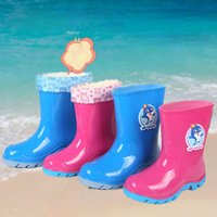 Wholesale 2016 New Style Child Rainshoes Boy and Girl Rain Boot Antiskid Galoshes Children s Boots Water Shoes Elementary School Students Shoes Rubber