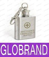 Hip LAI GRATUIT personnalisé Gravé 1 oz en acier inoxydable Flask Keyring LIVRAISON GRATUITE