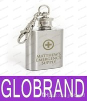 Wholesale LAI FREE Personalised Engraved oz Stainless Steel Hip Flask Keyring