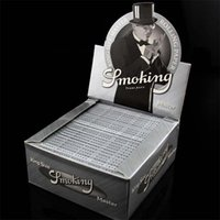 smoking paper - Premium Silver Cigarette Rolling Paper mm Natural Cigarette Paper Smoking Paper Wrapping Paper Big Size Cigarette Paper Bambu Hot Sell