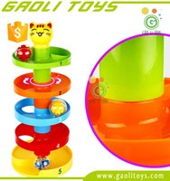 ball ramps - Gaoli Toys Rolling Swirl Ball Ramp Ball Drop Educational Family Fun Toys for Baby and Toddler