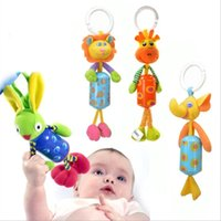 Wholesale Lovely Baby Stroller Car Lathe Hanging Rattle Bell Animal Cotton