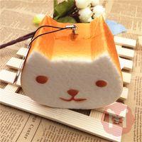 Wholesale cm Jumbo Kapibarasan Toast Squishy Charm With tag