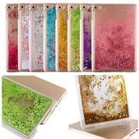 apple ipad shine - Colorful Moving Shining Stars Liquid Glitter Quicksand D Bling Phone Case Cover For Ipad mini