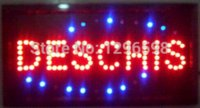 Wholesale 2015 hot sale manufacture x19 Inch Semi outdoor Ultra Bright running deschis led open sign sale rei