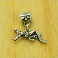 big grasshoppers - Grasshopper Style Big Hole Loose Space Beads Charms Antique Silver Pendants for DIY Bracelet Necklace Jewelry women jewellry DK109