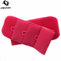 Wholesale womens underwear accessories polyester bra hook extender mm three rows each row with one ylon coated alloy hook