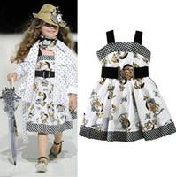 Acheter Nouvelle filles vêtements-Les nouveaux modèles de chien de mode ceintures Jumper Girls Childrens Dresses Printemps imprimé bretelles Girl Dress Enfant vêtements de gros Livraison gratuite