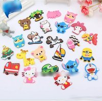 Wholesale 28 Style Novelty Cartoon Minions Kitty Animal Design Kids Early Learning PVC Fridge Magnet Kids Education K7852