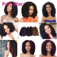 Wholesale 8 inch Wand Curl Crochet hair extensions Ombre Havana mambo twist braiding hair Synthetic Crochet Braids hair extensions