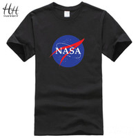 nouvelles chemises décontractées pour hommes achat en gros de-WISHCART Logo de la NASA Print T-shirt Hommes New Summer Short Sleeve Coton T-shirt homme Marque Designer Casual Fitness Vêtements Tops Tees TA0376