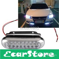 aux driving lights - 2pcs Car Truck Universal Day Fog Aux Driving DRL White LED Light Lamp V