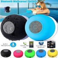 Wholesale Wireless Bluetooth Handsfree Waterproof Mic Suction Mini Speaker Shower Many Colors