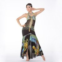One Piece Bras Ruffles online - Professional Egyptian Bellydance Outfit One-Piece Dress Slim Beads Bra Plus Size Flare Skirt Women Belly Dance Costume Black