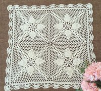 Wholesale Gorgeous design crocheted covers square vintage style table topper exclusive chic pattern sofa cover for home decor x50 square