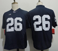 Wholesale 2016 Men s Saquon Barkley Navy Blue Limited College Football Jersey Embroidery Cheap Saquon Barkley Mix Order