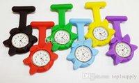 best nursing watch - Fashion Flower Nurse Watch Doctor Watch Silicone Rubber Nurse Watch Pocket FOB Watches Best Gifts