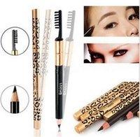 Wholesale Eyeliner Eyebrow Pencil Waterproof Longlasting Eye Brow Pencil Brush Makeup Eyebrow Enhancers Coffee Black Gray Brown Colors Pen