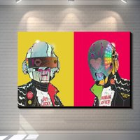 Wholesale Vintage Abstract Daft Punk painting picture canvas poster Home Bar Pub Garage Art Decorative Print Canvas Painting
