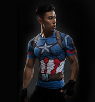 civil war clothing - T Shirt Captain America Civil War Tee D Printed T shirts Men iron man Fitness Gym Clothing Male Crossfit Tops Compression