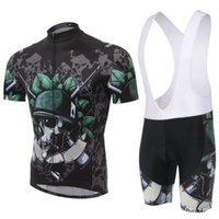 bicycle skeleton - New Style Men s bicycle clothing short Cycling Jersey sets Skeleton soldiers Pattern