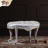 bedroom stool - European Palace funriture High end classic bedroom foot stool classic wood furniture royal furniture home furniture