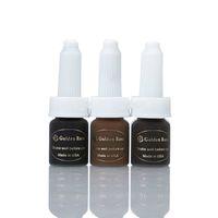 Wholesale 3 Bottles New Beauty Semi Permanent Makeup Pigment ML Bottles Eyebrow Tattoo Ink Hot Sale