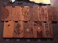 wooden case - Wooden Phone case pattern Mobile accessories laser engraving custom design wooden cell phone case for iphone7 iphone plus case DHL FREE