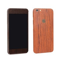 Precio de Envío libre del iphone de la manzana-Para iphone6S 5S SE 6 más MADERA TELÉFONO ETIQUETA DE ENVÍO LIBRE protector de la pantalla del teléfono celular iphone pegatinas de colores de cuerpo entero