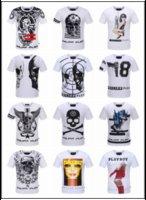 Wholesale T Shirt Homme Philipp Plein Brand Short Sleeve Tshirt Boy Cotton T Shirt Men D Skulls PP Tops Tees Male Robin T Shirts Balmain