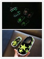 Wholesale 2016 fashion baby star printing Luminous shoes colors toddles slip on sports shoes boys girls shiny Running Sports light up Shoes booties