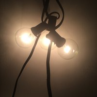 Wholesale 110V FT Warm White Light Green Black White Wire Incandescent Light String Strip Bulbs W Christmas Wedding Decorations