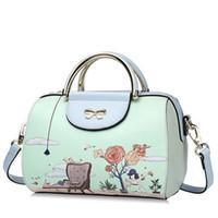 Wholesale Original new handbag shoulder bag Messenger bag cartoon printed handbag Boston bag pillow pack small cute