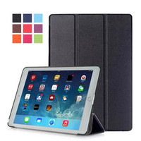 Wholesale Tablet Cover case for Apple iPad Pro Ultra Slim Tri Fold PU Leather for ipad business case cover colors EVA Case