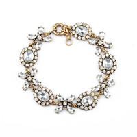 Wholesale Crystal Xoxo Bracelet Teardrop Floret Link Bracelets Petal Charms Vintage Gold Plated Hot Popular for Lady