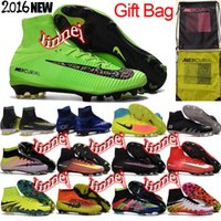 Wholesale men original high ankle fg ag mercurial superfly v cr7 football boots magista obra orden soccer shoes hypervenom phantom II soccer cleats