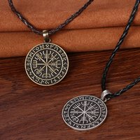 best viking - amulet viking odin norse runic pendant necklace Viking Runes Vegvisir Compass Pendant necklace christmas gift For Best Friend