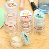 Wholesale Cream Jars Screw Caps Clear Plastic Makeup Sub bottling Empty Cosmetic Container Small Sample Mask Canister Bottle
